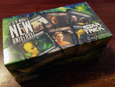 Star Trek CCG 2E Sealed Call To Arms Booster Combo Box - 8 starters 24 boosters