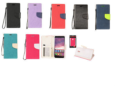 b51fdf98ac71 PU LEATHER WALLET Case Cover For Alcatel 1X Evolve/IdealXTRA 5059R/TCL LX  A502DL