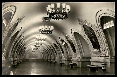 Russia Kiev Circle Moscow Subway 1954 Real Photo Postcard RPPC