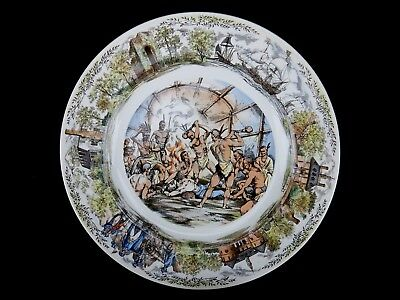 Wedgwood Collector Plate, Jamestown, Va, Pocahontas Begs for John Smith's Life