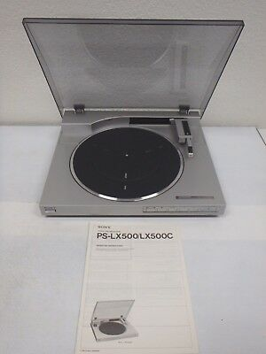 SONY PS-LX500 Direct Drive Automatic Stereo Turntable w/Manual Parts or Repair