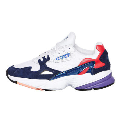 adidas - Falcon W Crystal White   Crystal White   Collegiate Navy Sneaker  CG6246 4085ab7d575