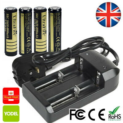 4 UltraFire 14500 Battery UK 3.7v Li-ion 2400mAh Rechargeable H427