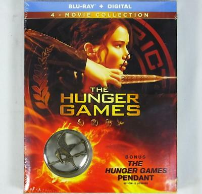 The Hunger Games 4 Movie Blu-ray + Digital + Pendant Set New Sealed