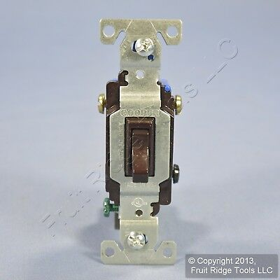 Cooper Brown Toggle Wall Light Switch 3-WAY 15A 120V Bulk 1303-7B NEWSTYLE