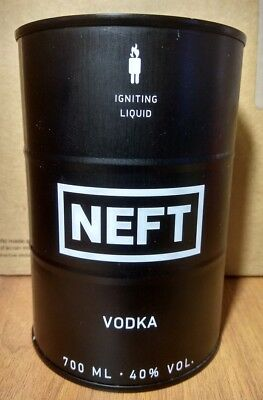 NEFT  VODKA  BLACK CAN 700ml. Empty for collection