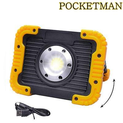 Rechargeable 50W COB LED Work Light Spotlight Portable LED Floodlight with Stand