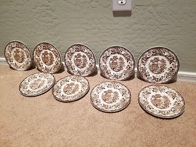 Lot Of 9 Royal Staffordshire CHARLOTTE BROWN Appetizer/Dessert Plates