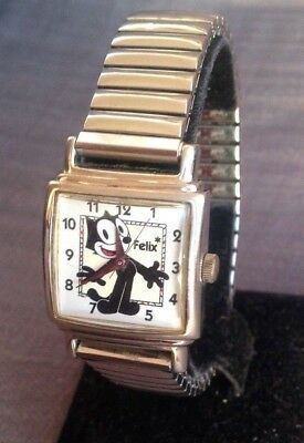 Vtg FELIX THE CAT Fossil Limited Edition Cartoon Character wristwatch watch