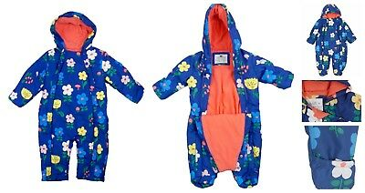 Baby Girls Snowsuit with Stormwear Newborn to Toddlers Girls Ex M and S