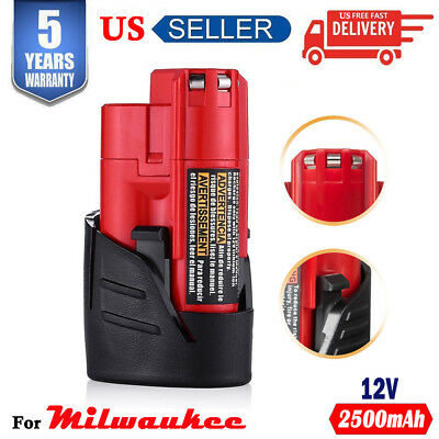 12V Replace for Milwaukee 48-11-2420 48-11-2401 M12 48-11-2402 Li-Ion Battery US