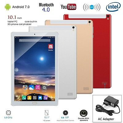 "10.1"" Phablet 3G Tablet Android 7 Octa Core 1G+16G WIFI GPS Dual SIM Card 8.0MP"