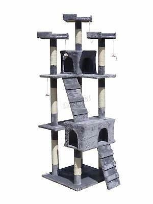 FoxHunter Deluxe Multi Level Cat Scratcher Tree Activity Centre Scratching M003