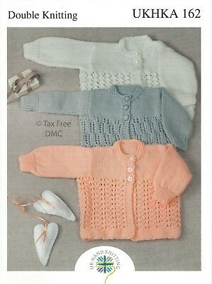 VAT Free Hand Knitting PATTERN ONLY Baby Child Cardigans Jumpers UKHKA162 New