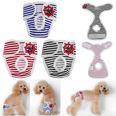 Large Female Pet Dog Diaper Pants Physiological Sanitary Panty Underwear S-XXL