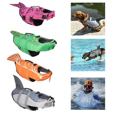 Pet Dog Life Preserver Jacket Swim Surf Safety Floatation Vest Saver Clothes S-L