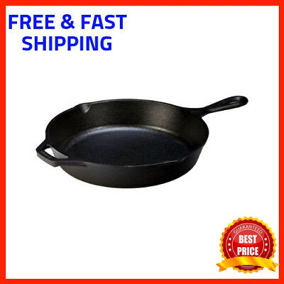 Lodge Cast Iron Skillet Frying Nonstick Pan Cooking Cookware Set Kitchen Oven