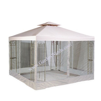 Garden Winds LCM413B-RS Universal 10x10 Two Tiere Gazebo Replacement Canopy and