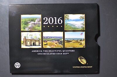 2016 P&D US Mint - America the Beautiful - Uncirculated 10 Coin Quarter Set