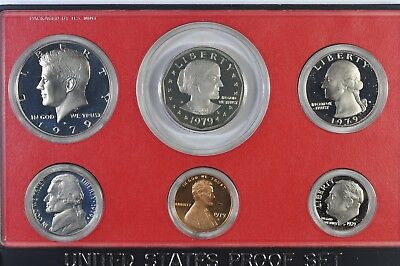 1979S Proof Set 6 Coin set in the Original mint issued box Type I&II