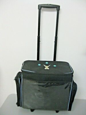 c39fa2cbf3 Scrapbook craft Tote Bag On Wheels Rolling Travel Storage Large Caddy  Tinkerbell