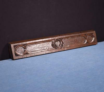 *French Antique Gothic Revival Panel/Trim in Oak Wood Salvage
