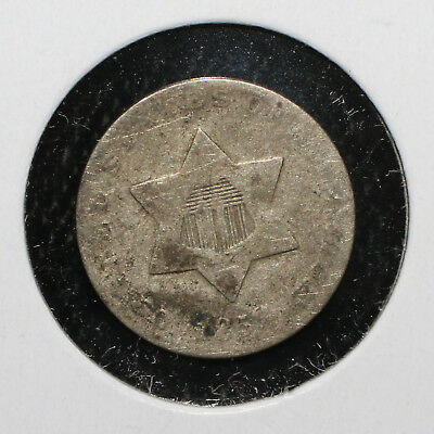 1858 3C Silver Trime - 02542