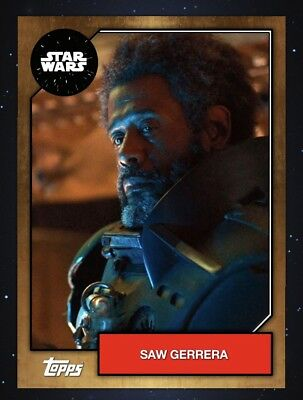 Topps Star Wars Card Trader 2019 Series 6 Bronze Base Variant - Saw Gerrera