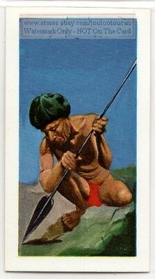 Samatri Paraguay Amazon Native Indian Warrior Weapon Vintage Ad Trade Card