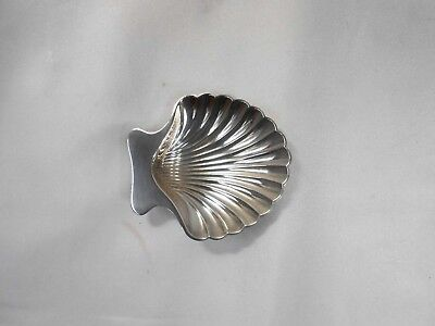 Vintage Signed Tiffany and Co. Sterling Shell Formed Small Dish