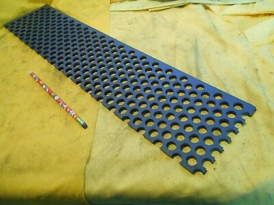 "PERFORATED PVC PLASTIC SHEET machinable flat stock 1/4"" x 5"" x 23 1/4"" OAL"