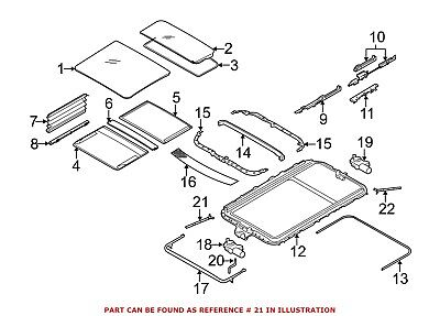 FOR BMW GENUINE Sunroof Drain Hose Front Right 54137000495 - $48 44