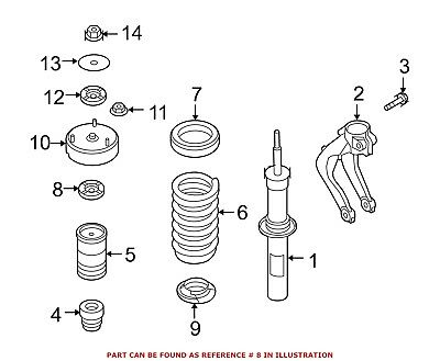 For BMW Genuine Coil Spring Insulator Rear Lower 33536764420