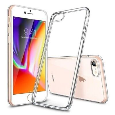 Transparent Clear Silicone Slim Gel Case and Screen Protector for iPhone 6S & 6