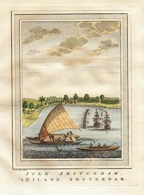 1753 Fine Prevost Engraving - Island of Amsterdam, Indian Ocean