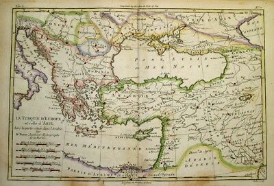 1781 Bonne Map of the Ottoman Empire, Turkey, Middle East