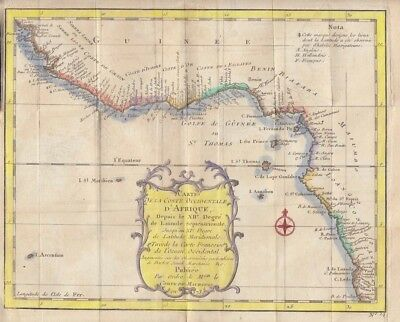1757  Bellin Map of West and Central Africa