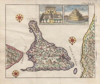 1726 Rare De Renneville Map of Bali - East Indies