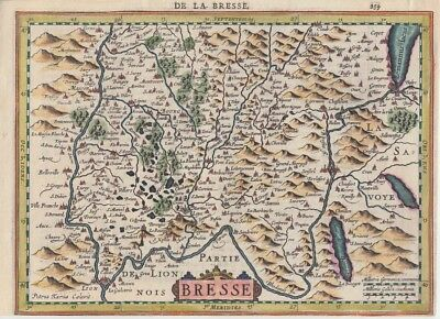 1632 Large Mercator/Cloppenburg Map of Alps Foothills, France