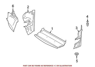 For BMW Genuine Radiator Support Side Panel Front Left 51747903729