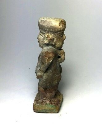 Ancient Egyptian Faience Amulet - Figure statue