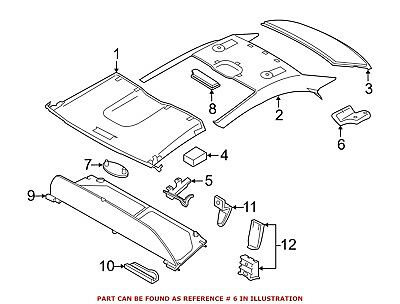 Rear Genuine Hyundai 83561-34000 Door Channel Assembly Right
