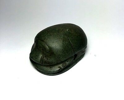 RARE Ancient Egyptian Stone LARGE Scarab 1000 BC