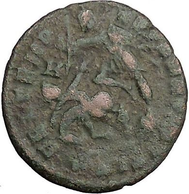 CONSTANTIUS II Constantine the Great son Ancient Roman Coin Horse man i33145