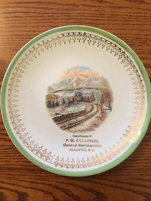 Antique Pikes Peak plate - Trenle China -  P.W. Anderson - Alcester South Dakota