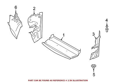 For BMW Genuine Radiator Support Side Panel Front Right 51747903730