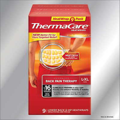 ThermaCare  L/XL, 9 Heat Wraps Lower Back & Hip