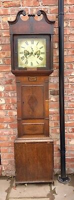 8 Day Grand Father Clock By The Maker Hugh Roberts Of Llangefni