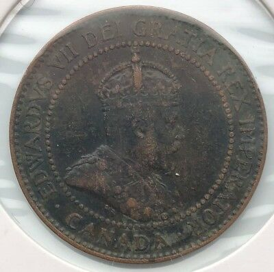 1908 - 1 cent - CANADA - King Edward VII - VF20 Condition