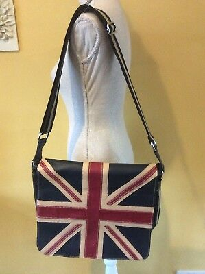 Retro Union Jack Messenger Bag Shoulder Bag MOD BNWOT 26479b2c953